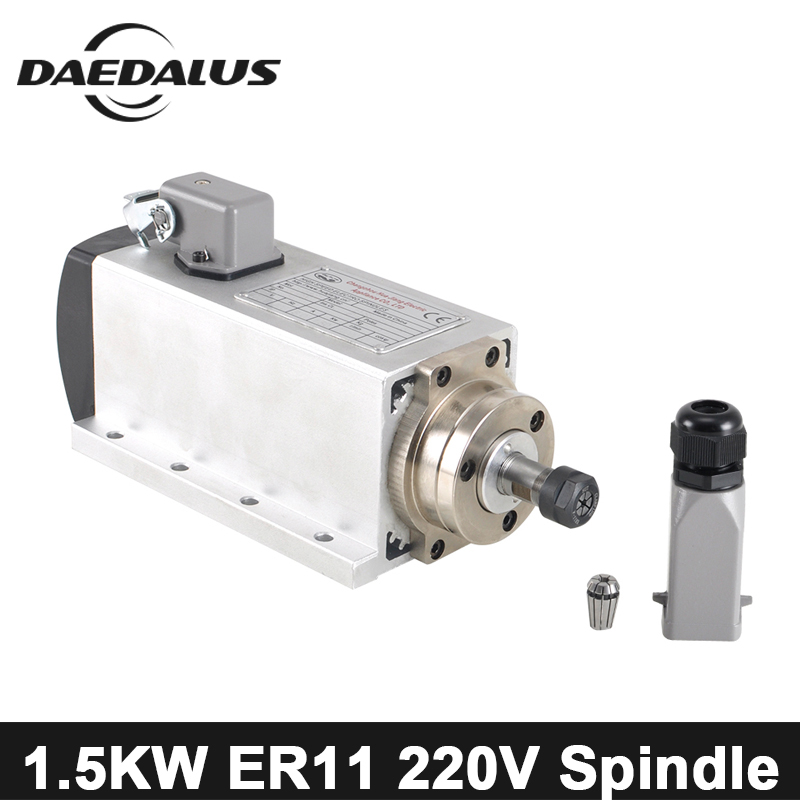1.5KW CNC Spindle Motor 220V Air Cooled Spindle Motor ER11 Collet Chuck Wood Router Machine Tools With 4 Bearings For Engraver 1 5kw cnc spindle motor 220v air cooled spindle motor er11 collet chuck wood router machine tools with 4 bearings for engraver