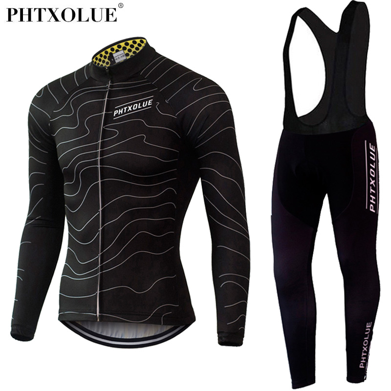 Phtxolue Winter Thermal Fleece Cycling Clothing Wear Bike MTB Jerseys Cycling Sets 2019 Men s Cycling