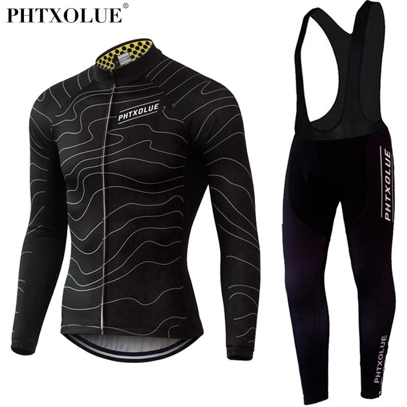 Phtxolue Winter Thermische Fleece Fietsen Kleding Slijtage Fiets MTB Jerseys Fietsen Sets 2016 mannen Wielertrui Sets QY069