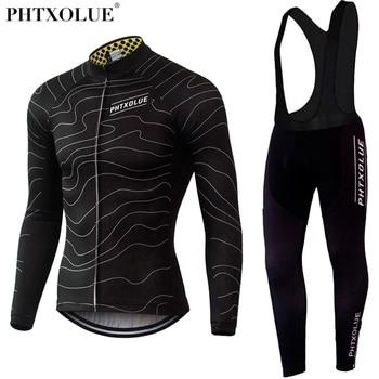 Phtxolue Winter Thermische Fleece Fietsen Kleding Slijtage Fiets MTB Jerseys Fietsen Sets 2019 mannen Wielertrui Sets QY069