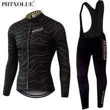Phtxolue térmico Invierno Polar ciclismo ropa de bicicleta MTB ciclismo camisetas conjuntos de 2019 hombres ciclismo Jersey conjuntos QY069