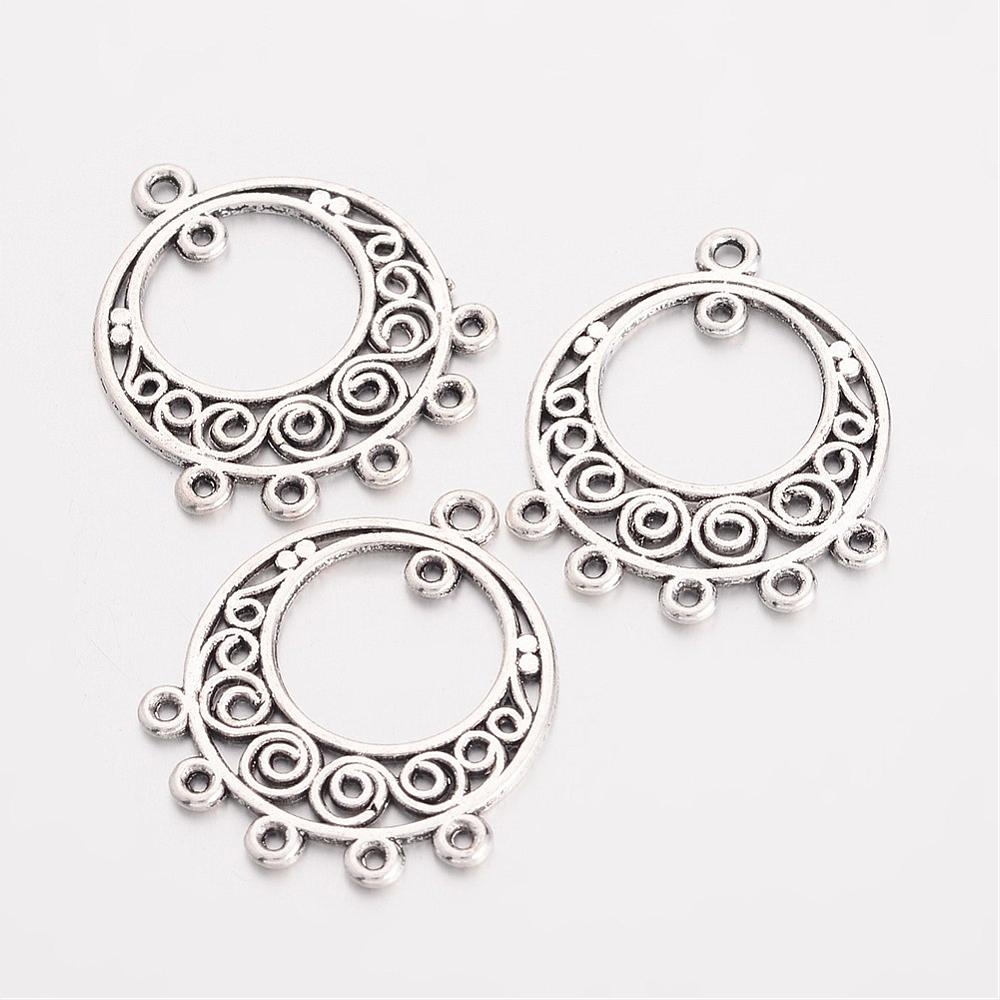Pandahall 200pcs 24x20x1mm Hollow Dangle Chandelier Component Link Connector Necklace Dangle Earring Jewelry Making Findings