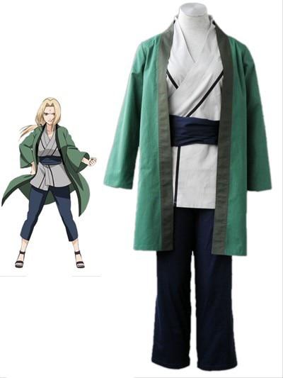 Free Shipping font b Naruto b font Shippuden Tsunade Kimono Anime font b Cosplay b font
