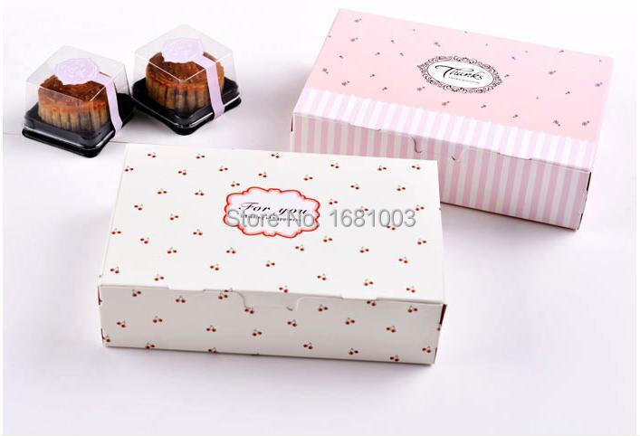 Free shipping 200pcslot paper cake box macaron box and package bakery food boxes 6 table