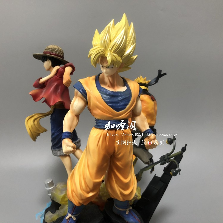 Vogue One Piece Luffy Dragon Ball Son Goku Uzumaki Naruto Game Anime JUMP Statue 18cm Figure Model Toys Collector image