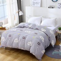 1 Pce Dark Blue Red Mushroom Fashion Bed Linen Set Bedding Sets Bedspread Bedclothes Modern Style