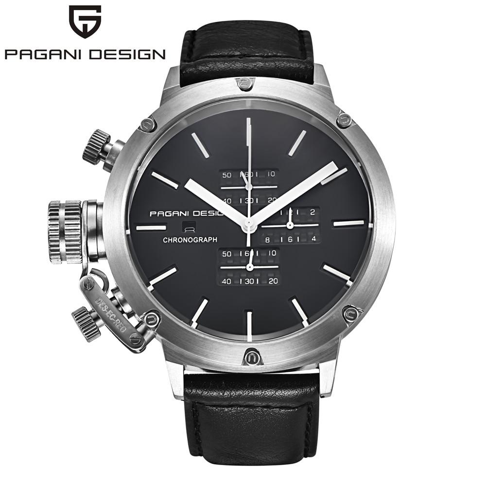 Original PAGANI DESIGN Sports Watches Men Multifunction Dive Unique Innovative Chronograph Quartz Watch Men Relogio Masculino