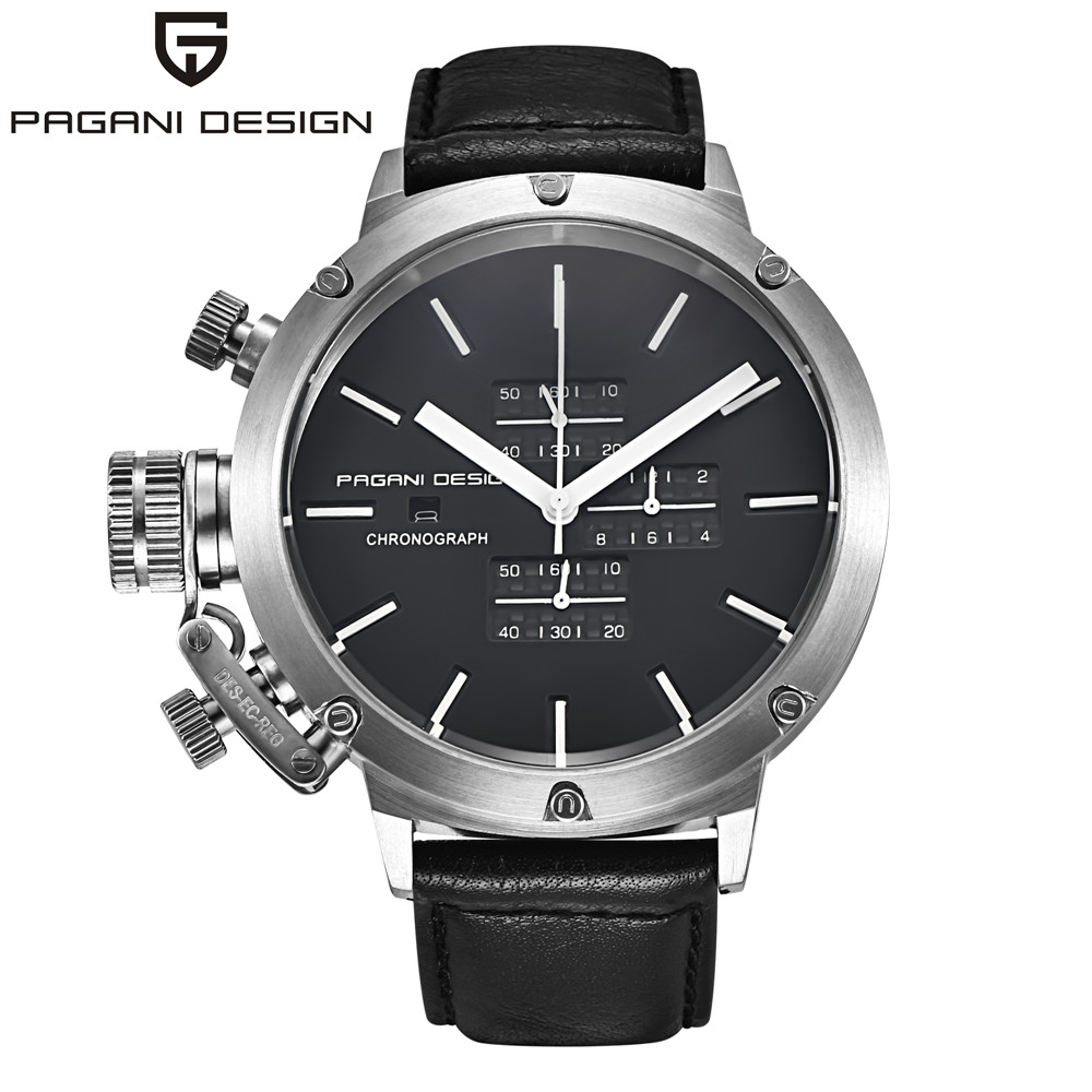 Original PAGANI DESIGN Sports Watches Men Multifunction Dive Unique Innovative Chronograph Quartz-Watch Men Relogio Masculino