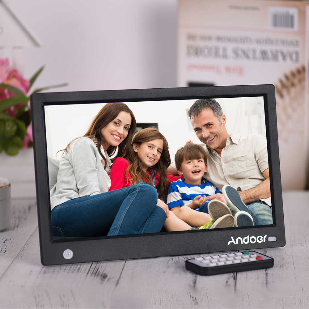 Andoer Digital Picture Frame HD Digital Photo Album 11.6 Inch HD IPS Widescreen with Wireless Remote Multi-language Interface