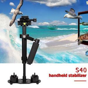 Image 5 - S40 アルミ合金ハンドヘルドデジタルポータブル手ぶれ補正電話ホルダーマウントカメラスタビライザー写真アクセサリー