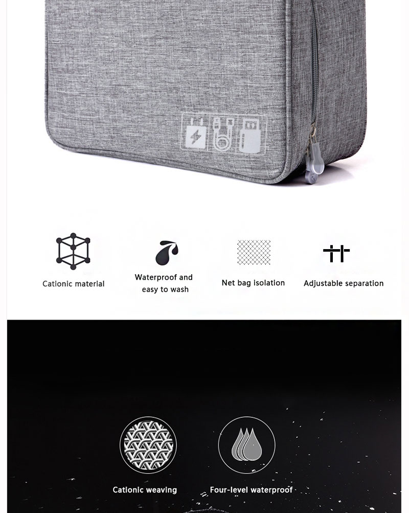 Travel Accessories Cable Bag Portable Digital USB Finishing Gadget Organizer Charger Wires mskeup Pouch kit Zipper Case Storage