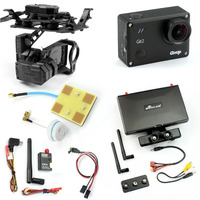 DIY Drone FPV Set With 600mw Transmitter 7 Inch FPV Monitor Tarot T4 3D 3 Axis