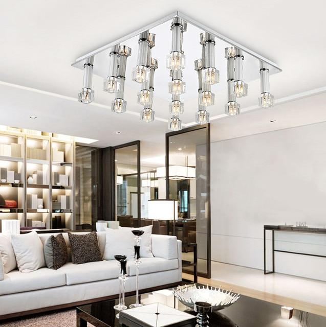 LED kristallen lamp gangpad glas plafondlamp vierkante woonkamer ...