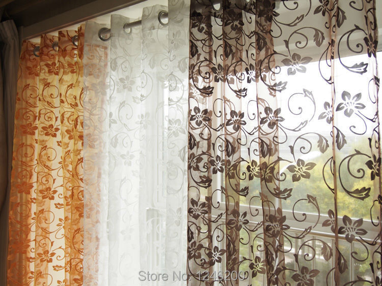 D Decor Sheer Curtains