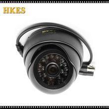 HKES 2pcs High Quality AHD Camera Color CMOS 1500TVL 1.3MP 24 IR LED Night Vision Dome Camera Indoor Free Shipping
