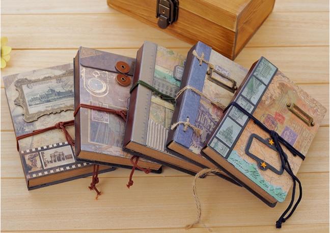 NEW Vintage Memory frame Craft notebook hand cover kraft book DIY Journal Notepads agenda Zakka office school supplier retail kiwarm 2018 new kid photo frame diy hand