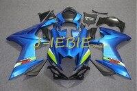 Blue Injection Fairing Body Work Frame Kit for SUZUKI GSXR 600/750 GSXR600 GSXR750 2011 2012 2013 2014 2015 2016