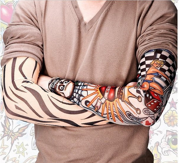 New hot driving sunscreen arm tatoo sleeve man & woman cool cycling temporary flash tattoo Stretchy scorpion fake tattoo sleeves 3