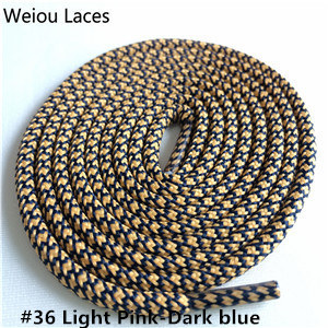Weiou новые яркие цвета для пеших прогулок, двухцветные шнурки, сменные шнурки для обуви, круглые шнурки для баскетбола 750