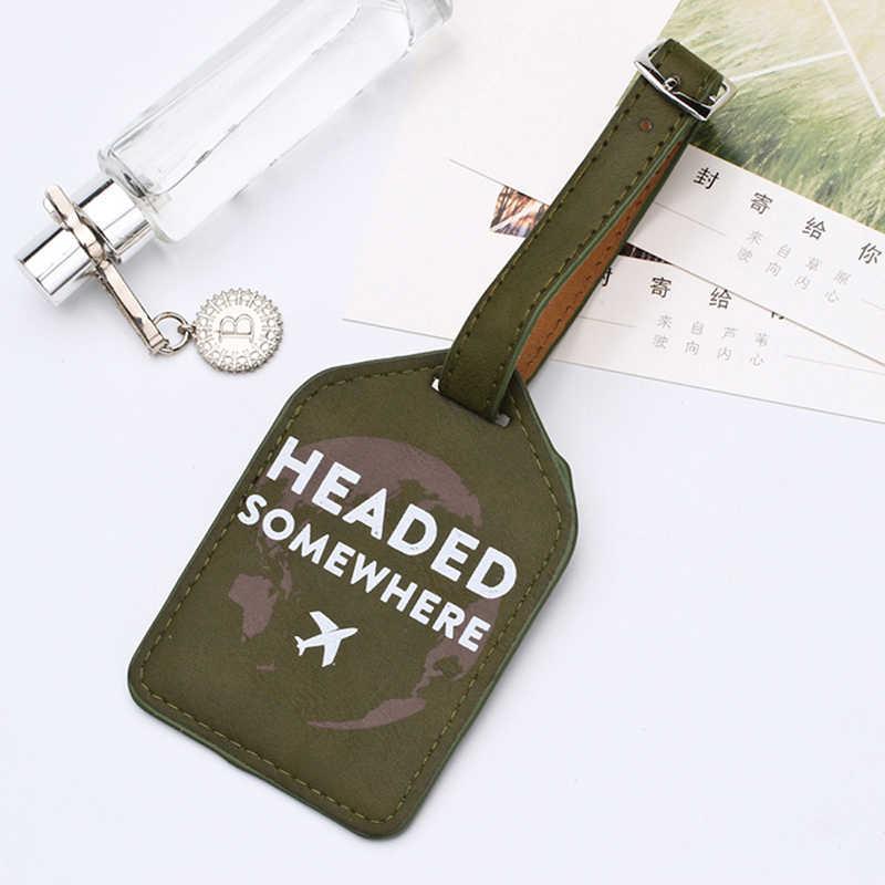 Zoukane Lederen Koffer Bagagelabel Label Zak Hanger Handtas Draagbare Reizen Accessoires Naam Id Adres Tags LT02