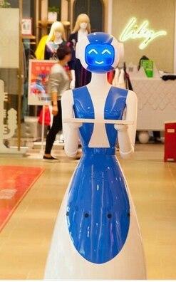 Dish Delivering Service Robot Theme Restaurant Humanoid Restaurant Smart Robot
