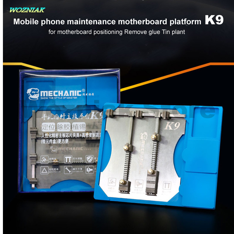 все цены на Wozniak Best High Precision Universal Maintenance Motherboard Chip IC Fixture Anti Dropping Groove clamp Component for iphone онлайн