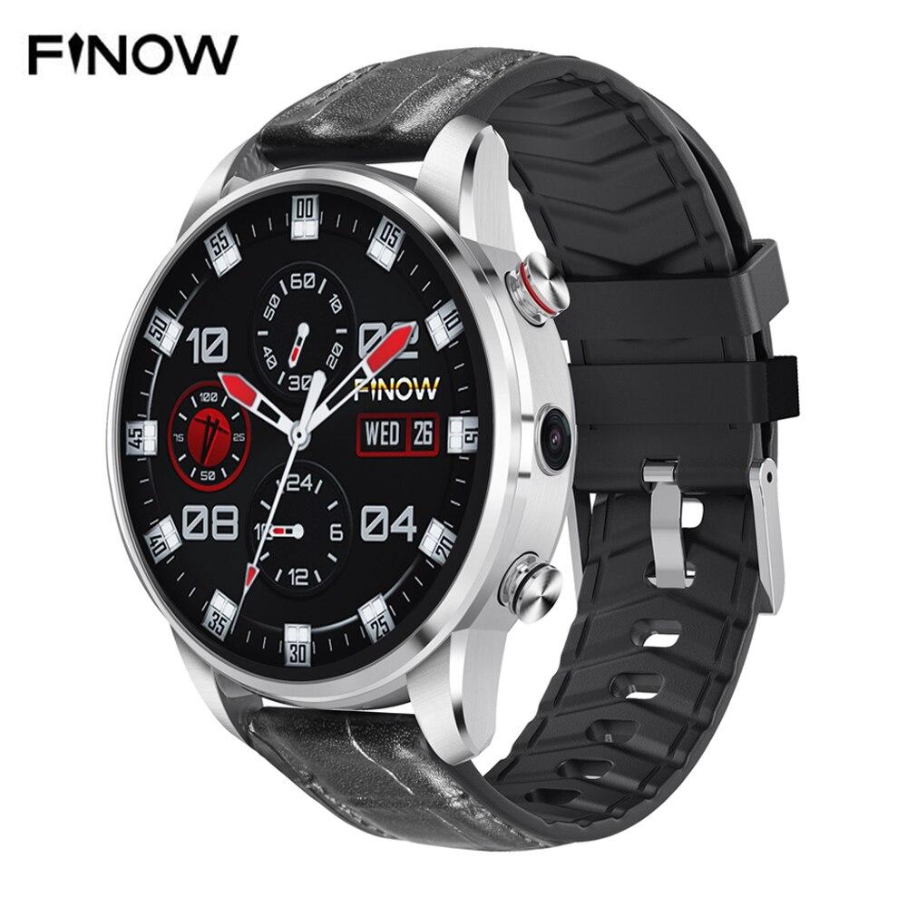 2019 Nova Finow X7 4G Relógio Inteligente 1.39 polegada Android 7.1G + 16 1G Esporte Smartwatch Para das Mulheres dos homens de Fitness Heart Rate Para Android & IOS