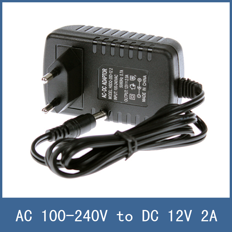 High Quality EU Plug Type AC 100-240V to DC 12V 2A Power Supply Charger Adapter For CCTV Camera LED Strip , 5.5x2.1mm Male 5 pcs panel mounting us eu type female power supply plug 10a ac 250v