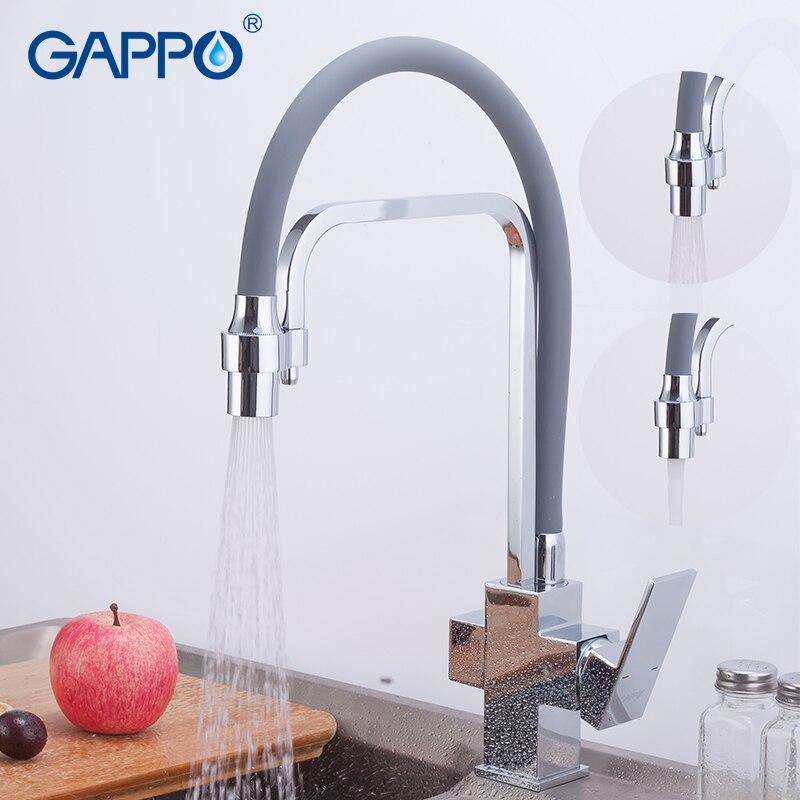 GAPPO robinet de cuisine mélangeur de cuisine robinet flexible robinets d'eau potable pont monté eau filtrée torneira para cozinha