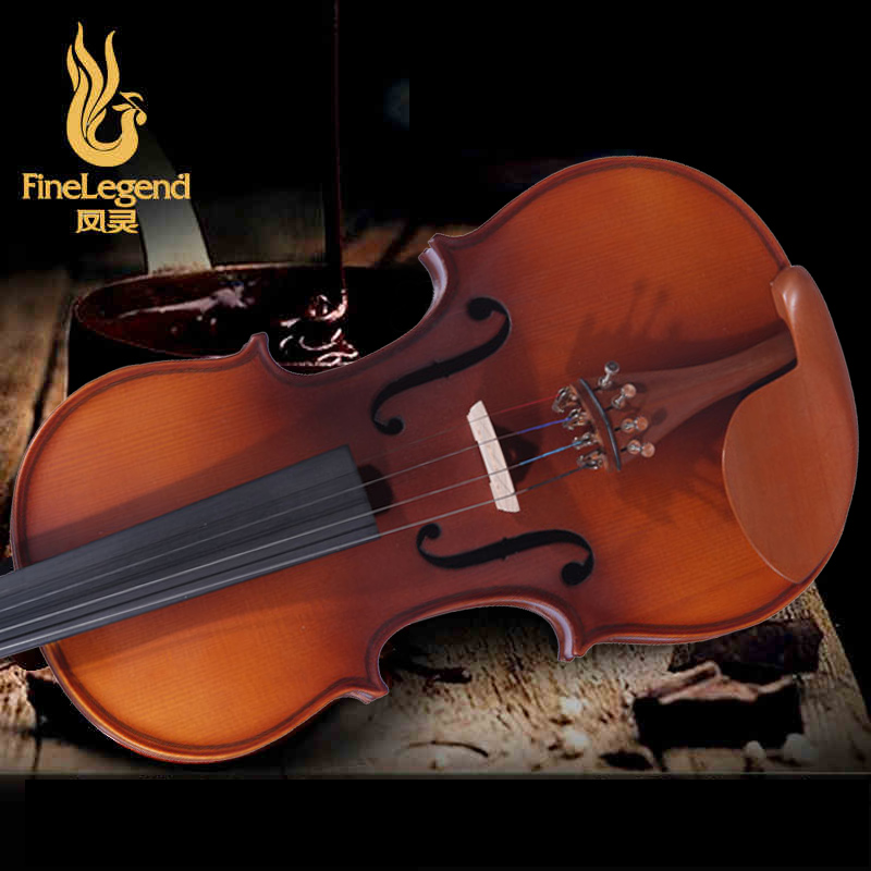 FineLegend 4/4 Full Size Zizyphus Jujuba Parts Handmade Professional Violin with Bow, Case, Rosin LCV1113-2 violins professional string instruments violin 4 4 natural stripes maple violon master hand craft violino with case bow rosin