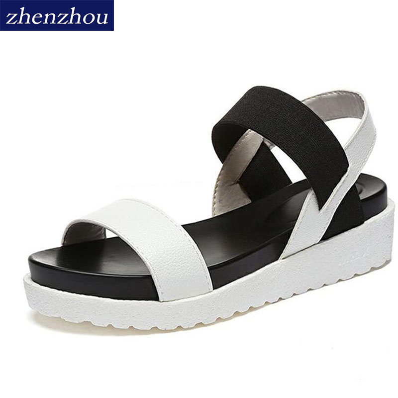 NEW Hot Selling sandals women Summer shoes woman 2017 peep-toe flat Shoes Roman sandals Women sandals sandalias mujer sandalias marlong women sandals summer new candy color women shoes peep toe stappy beach valentine rainbow jelly shoes woman