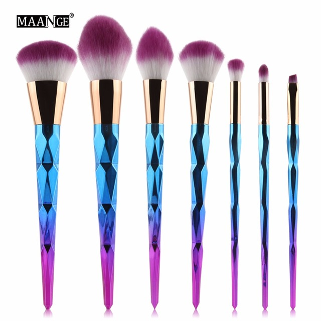 MAANGE 7/10Pcs Diamond Makeup Brushes Set Powder Foundation Eye Shadow Blush Blending Cosmetics Beauty Make Up Brush Tool Kits 4