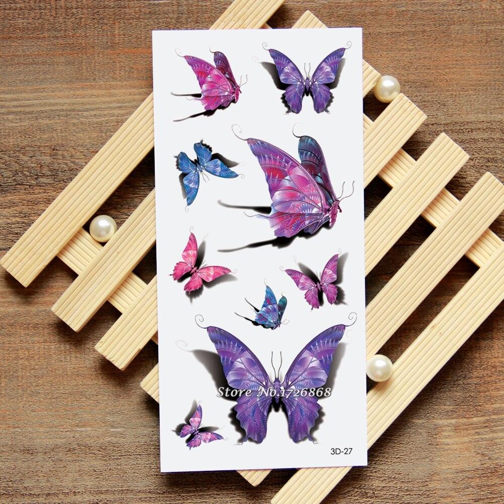 3D Papillon Faux Tatouage Stickers Tatouage Temporaire Corps Art Flash  Tatouage Autocollants Étanche Pour Femmes Hommes  027 91f826cb026f