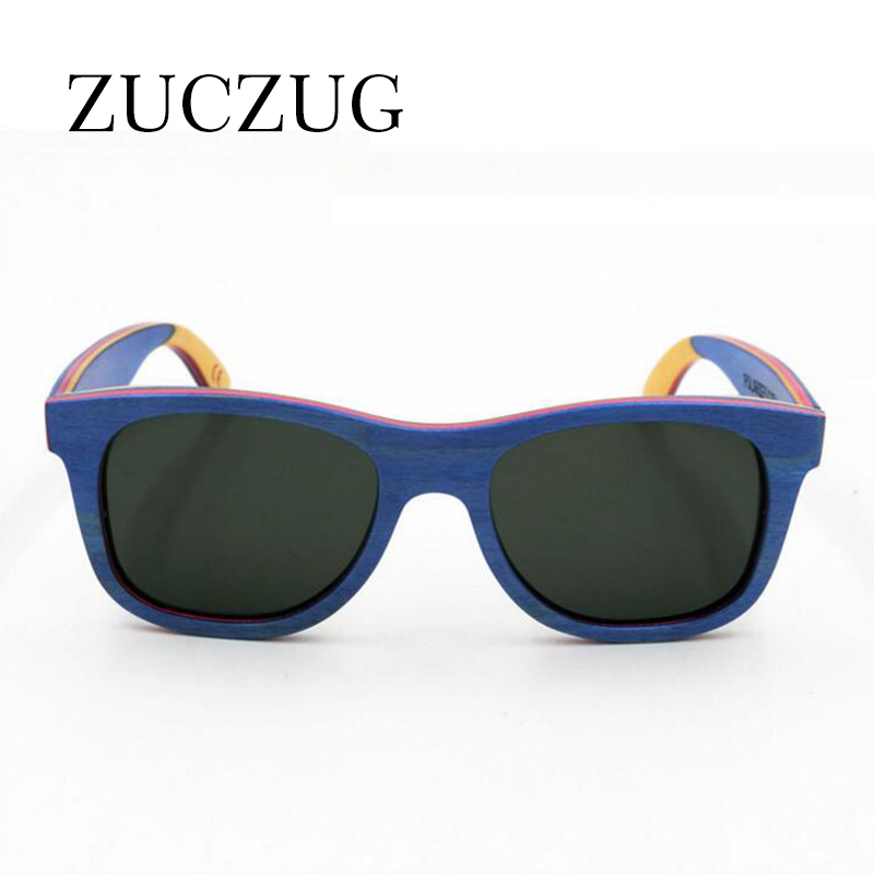 ZUCZUG Wooden Polarized Sunglasses Men Luxury Brand Gradient Lens Sun Glasses Women Premium Frame Wooden Sunglasses