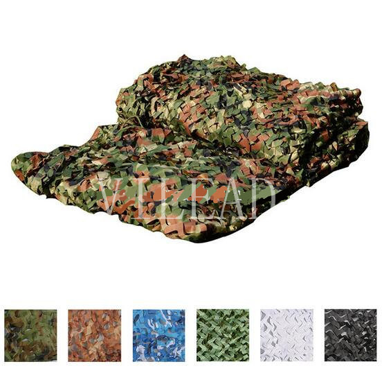 VILEAD 9 Colors 3M*6M Camouflage Net Reusable For Shop Decoration Outdoor Activity Shetler Shade Camo Net Military Training vilead 9 colors 2 5m 8m forest camouflage net camo net invisible camo net army covert net for snipers party theme decoration