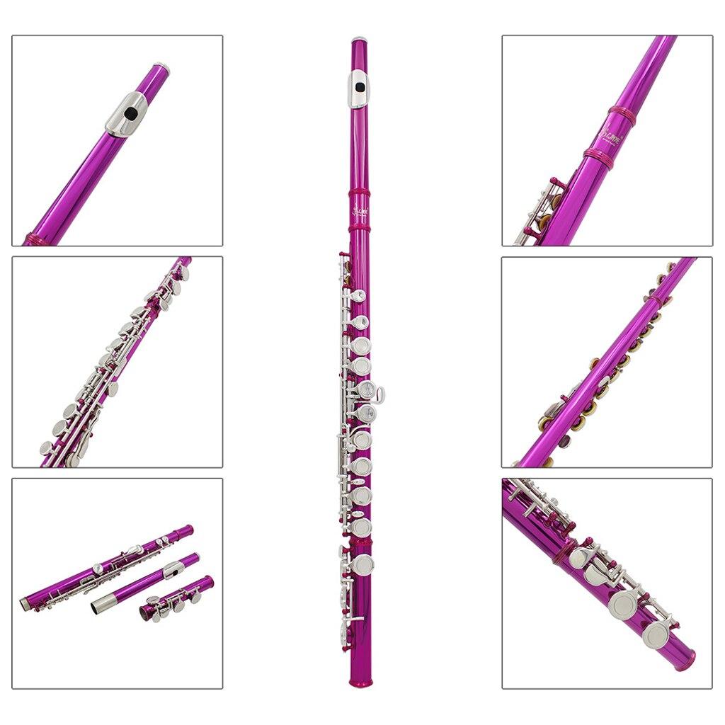 Flûte 16 trous C clé Instrument à vent avec gants Mini tournevis étui rembourré