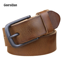 GEERSIDAN Fashion Luxury pin buckle man belt genuine leather strap for jeans Female high quality wide black free shippping