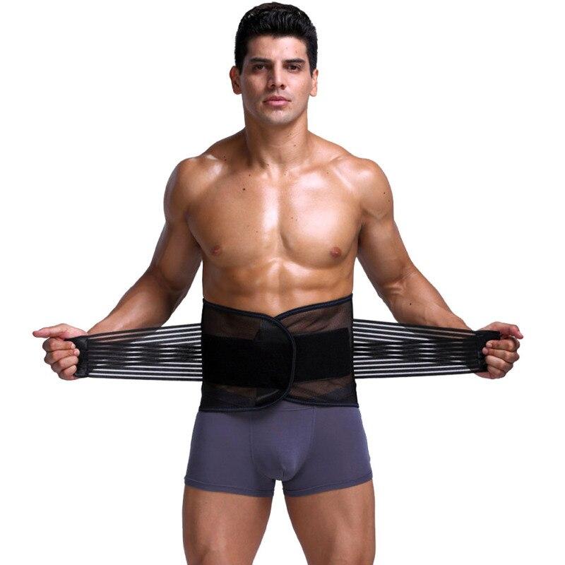 Adjustable Men Abdomen Waist Trimmer Exercise Sweat Belt Fat Burner Slimming Hot Body Shaper Waist Trainer Corsets for Men Z4