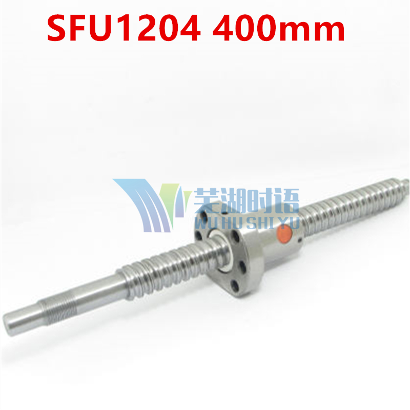SFU1204 400mm C7 rolled Ball Screw RM1204 L 400mm ballscrew with SFU1204 single ballnut for CNC parts BK/BF10 machined axk sfu1204 200mm ballscrew with sfu1204 single ballnut for cnc parts bk bf10 machined