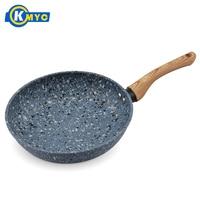 KMYC Granite Coating Frying Pan Non stick Pancake Pans Kitchen Skillet Soup Sauce Pot BPA Free For Gas Electric Stove Cookware