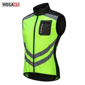 Image 2 - WOSAWE 반사 형 오토바이 조끼 모토 크로스 스포츠 팀 유니폼 높은 가시성 안전 조끼 초경량 방수 자켓