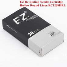 цена на RC1208HRL EZ Revolution Cartridge Needles Hollow Round Liner Tattoo Needles for Cartridge Tattoo Machine & Grip 20 pcs/Box