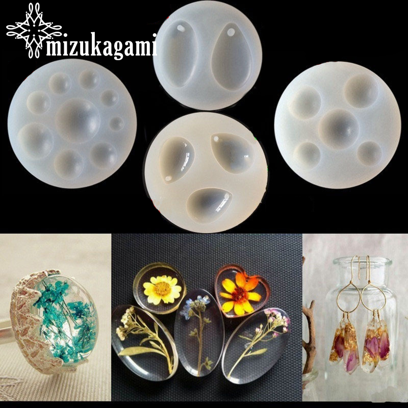 1pcs UV Resin Jewelry Liquid Silicone Mold Tear Water Drop&Round Beads Charms Molds For DIY Necklace Pendant Making Jewelry
