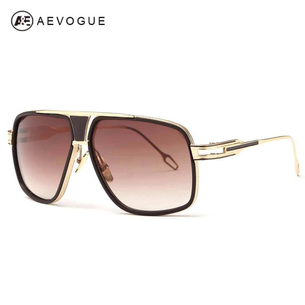 AEVOGUE Men's Sunglasses Newest Vintage Big Frame Goggle Summer Style Brand Design Sun Glasses Oculos De Sol UV400 AE0336