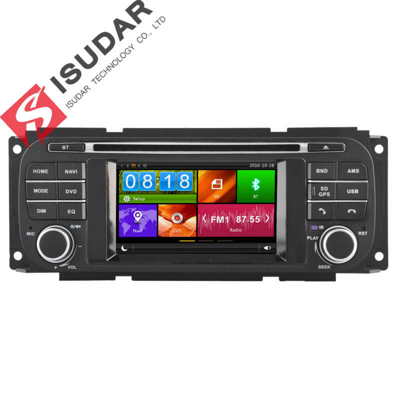 Isudar Car Multimedia Player Car Radio GPS For Chrysler/Dodge/RAM/Jeep/Grand Cherokee BT TPMS Microphone Wifi Remote control DVR loreada throttle body 4861661aa 4861661ab for jeep grand cherokee liberty dodge dakota nitro ram 1500 3 7l 3 8l