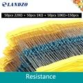 1% точность 0.25W1/4 Вт 220R 220 1 K 10 K совместимый arduino Каждое Значение Резистор Металлические Пленочные Комплект пакет электронных diy kit