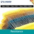 1% precisão 0.25w1/4 w 220r 220 1 k 10 k compatível arduino cada valor resistor de filme de metal conjunto pacote kit eletrônico diy