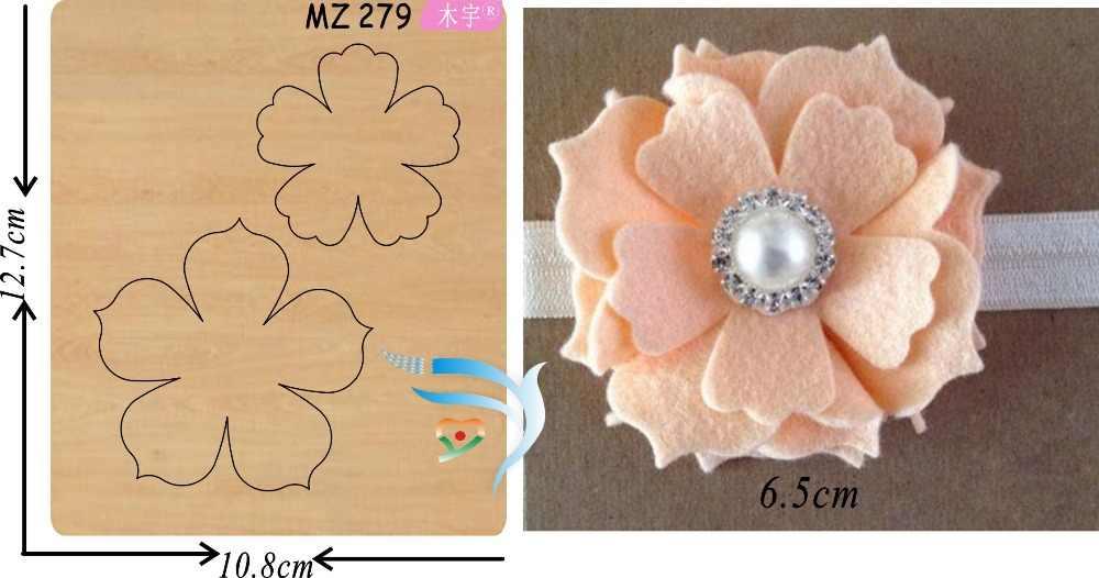 Розовый цветок ручной работы muyu резки высечки новая деревянная форма режущие штампы для скрапбукинга Thickness-15.8mm