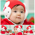 Caliente Del Niño Del Bebé Niños Niñas niños Invierno Ear Flap Hat Gorro de Ganchillo Conejo Caliente
