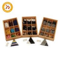 Montessori Teaching Math Toys Colored Beads Bars Wood Toys Early Childhood Education Preschool Training